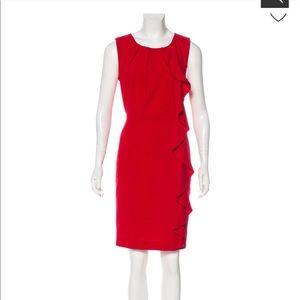 CALVIN KLEIN Sheath A-Line Ruffle cocktail dress